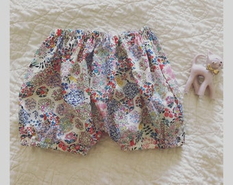 Liberty if London Bloomers, 6 months, pink patchwork