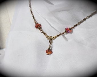 Red Dragon - Red Czech Glass Neo Victorian Necklace