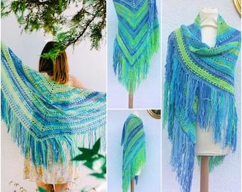 Crochet Shawl, Cotton Shawl, Boho Shawl, Crochet Shawl Wraps, Crochet Scarf Boho, Boho Scarf, Boho Clothing, Festival Clothing, Shawl Wrap