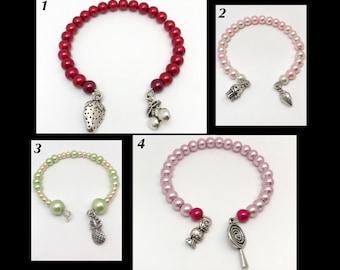 Bracelet 'Sugar' memory of shaped glass beads
