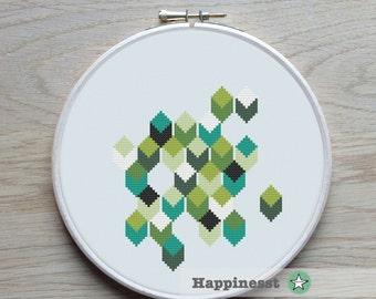modern cross stitch pattern, geometric, PDF pattern ** instant download**