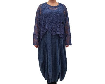 Wolfairy Women's Plus Size Dress Boho Hippie New Long Quirky L351