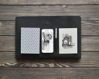 Macbook leather case. MacBook Pro 15' case. Laptop leather sleeve case.