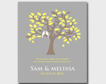 Anniversary Gift - First Paper Anniversary - Wedding Gift - Gift for Couples - Available in Different Colors