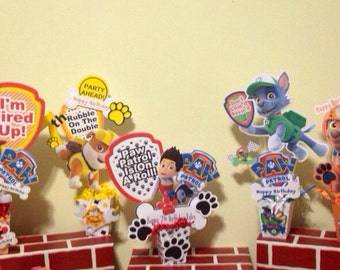 Paw Patrol Centerpiece x1 Personalized