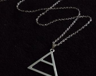 80p UK P&P 30 seconds to mars Triad pendant on 24inch chain silver UK SELLER jared leto love echelon symbol joker handmade