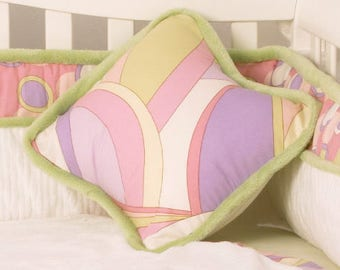 """Pink and Purple Swirl 14"""" Throw Pillow Cover. MADE IN USA"""