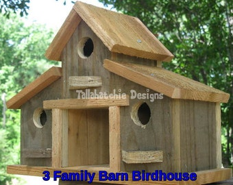 barn birdhouse, rustic barn birdhouse, birdhouse outdoor, outdoor gifts for Dad, small barn birdhouse, Father's Day gifts
