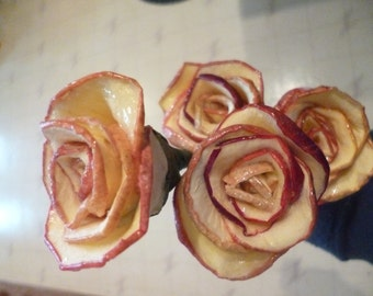 4 Small Apple Roses Dried Bouquet