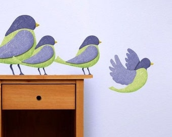ON SALE Bird Wall Stickers Decals for Girls Room or Baby Nursery