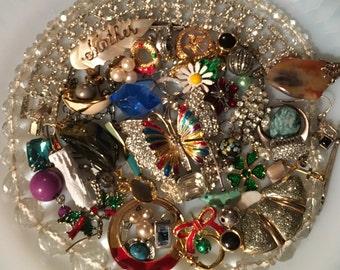 Vintage Jewelry Lot *Rhinestones*Enamel* Beads & Baubles *Craft*Jewelry Designers*