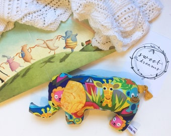 Elephant Toy Brights// Baby Toy// Cloth Toy// Cloth Doll// Baby Softie// Cuddly Toy// Baby Shower Gift// Gift for Toddler// Nursery Decor//