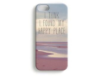 "phone Case ""happy place"" typography photo"