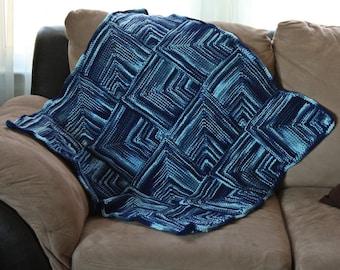 Knit baby afghan pattern, knit blanket pattern, knit baby blanket pattern, knit stroller blanket pattern, unique baby blanket pattern