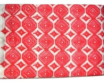 1 to 50 Yards (Print_115,114)Indian Block Printed Cotton Ikkat Printed Fabric