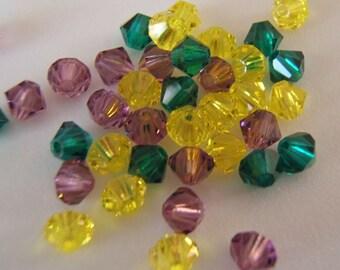 4mm Preciosa Czech Crystals - Carnival Mix