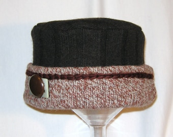 Wool Hat from Upcyled Preloved Sweaters (Size M)
