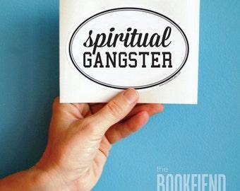 spiritual gangster vinyl bumper sticker