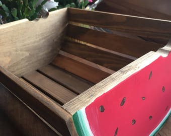 Wooden Watermelon Crate