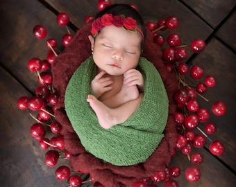 Moss RTS Stretchy Soft Newborn Knit Wraps 80 colors to choose from, photography prop newborn prop wrap