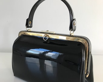 Vintage Black patent bag