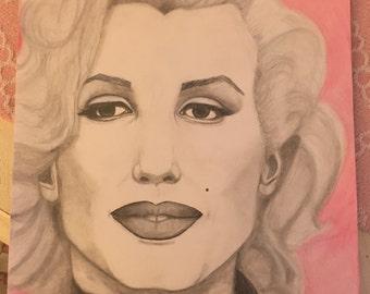 Original sketch of Marilyn Monroe