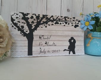 personalized wedding sign, custom name sign, personalized sign, gift for couples, personalized wedding sign, wood family sign,