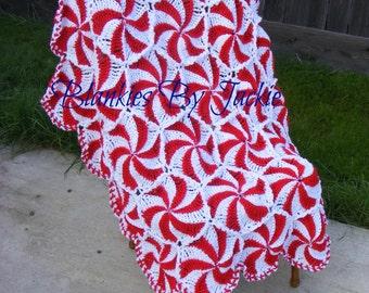 Peppermint swirl blanket