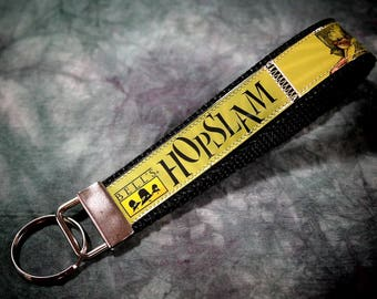 Wristlet KeyChain from Repurposed Bell's Hopslam Beer Labels