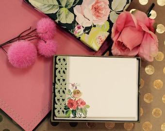 Anna Griffin  Grace Black Collection - Correspondence Cards  - 20 Cards Plus Envelopes