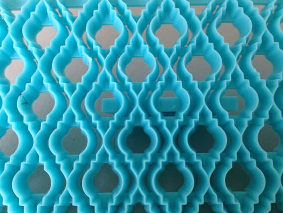 Moroccan Dangle Plastic imprint stamp texture is for polymer clay, Mokume stamp, cookies, fondant cake decorating