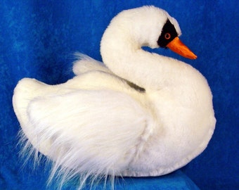Sewing Pattern to Make a SMALL Swan Stuffed Animal Soft Toy a Handcrafted Design from Fantasy Creations