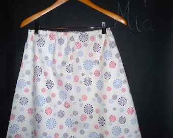 Sample SALE - Will fit Size S/M - Ready to MAIL - A-line SKIRT - Red White and Blue - Patriotic - by Boutique Mia