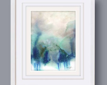 "Abstract Watercolor Painting, soft, Serene, Peaceful, Tranquil, Original art ""Ethereal Travels 8"" Kathy Morton Stanion EBSQ"