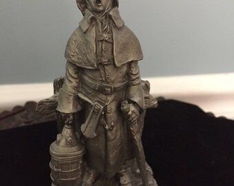 """The Franklin Mint FINE PEWTER Figurine """"The WATCHMAN"""" 1977"""