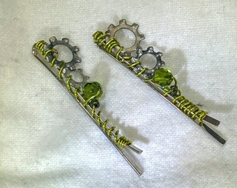 Steampunk small hair pin set - 20% off with code BLF2016
