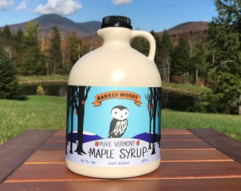 Free Shipping Maple Syrup - One Gallon of 100% Pure Vermont Maple Syrup (Shipped as Two Half Gallon Jugs) - Free Shipping