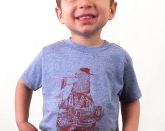 FREE SHIPPING -- YOUTH Philadelphia Fanatic -- Paul Carpenter Art -- Toddler and Childrens Philly Tee Shirt