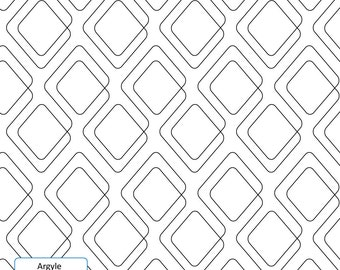 ARGYLE - Longarm Quilting Digital Pattern for Edge to Edge and Pantograph Handiquilter Gammill Statler Stitcher Long Arm Machine