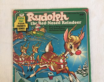 Rudolph the Red Nosed Reindeer vintage record