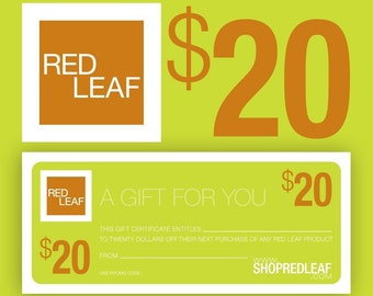 Red Leaf Gift Certificate Gift For Best Friend, Sister, Men, Coworker