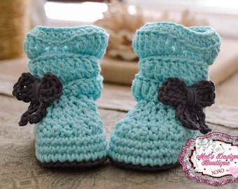 baby boots - baby girl boots - crochet boots - baby shower gift -  boots - 0 3 month - slouch boots - baby shoes - baby booties - aqua