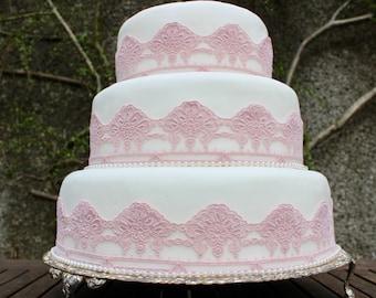 Gatsby Pink Wedding Cake Topper. Art Deco Cake Topper. Vintage Wedding Cake. 1920s Wedding. Gatsby Wedding Decor. Wedding Cake Trim.