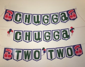 Chugga Chugga Train Banner