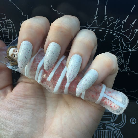 Dreamy Jelly Donuts- Twin Peaks- Pink and Purple Glitter in Cream Polish