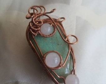 Amazonite / rose quartz #1
