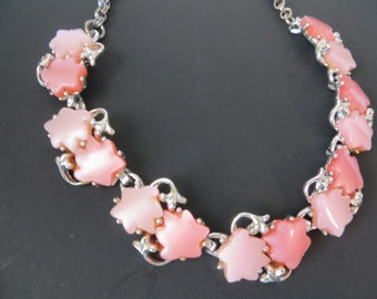 2 Tone Pink Thermoset Vintage Necklace