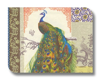 Peacock paper napkin for decoupage (cocktail)  x 1 Peacock . No 1206