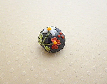 Handcrafted bead glass 15 x 15 mm - GBPB 0921