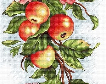 Composition with apple SB211 - Cross Stitch Kit by Luca-s